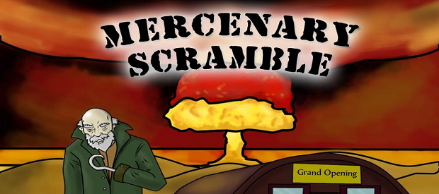 Mercenary Scramble Title Screen